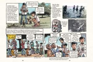 Marcelino reconstitue les batailles de la guerre du Vietnam avec ses figurines Action Man (le nom anglais pour Gi Joe)